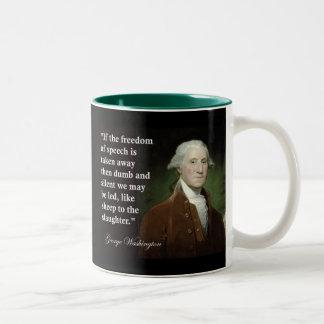 George Washington Freedom of Speech Quote Coffee Mugs