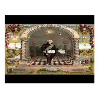 George Washington Freemason President Postcard