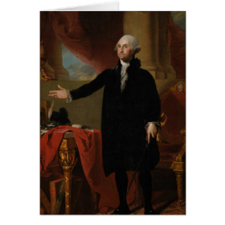 George Washington - Gilbert Stuart (1797) Greeting Card