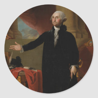 George Washington - Gilbert Stuart (1797) Round Sticker