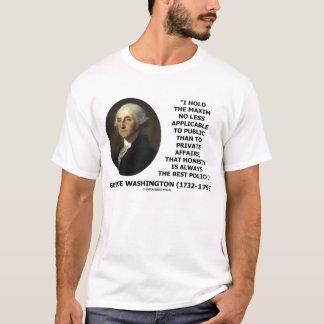 George Washington Honest Always Best Policy Quote T-Shirt
