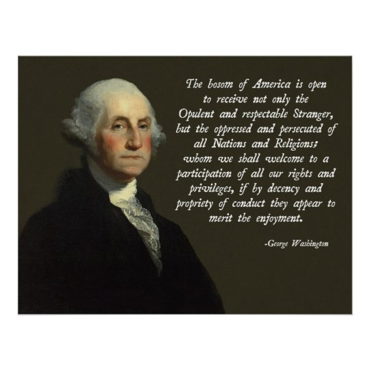 George Washington Immigration Quote Poster