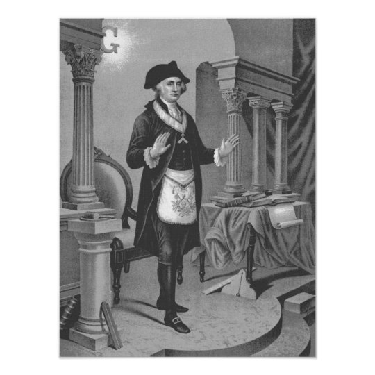 George Washington In Masonic Regelia 2 Poster