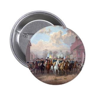 George Washington in New York button