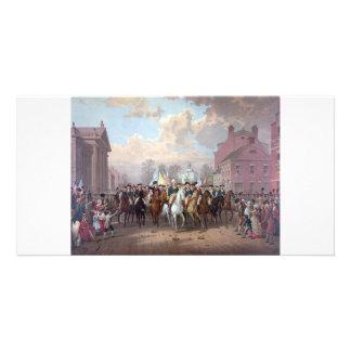 George Washington in New York collector photo card