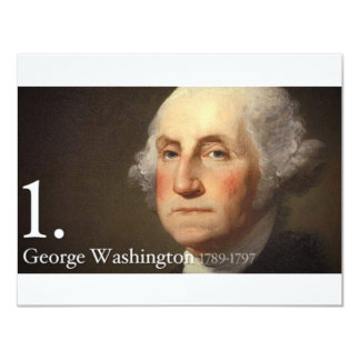 George Washington Personalized Announcement