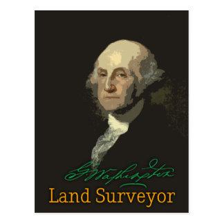 George Washington Land Surveyor Postcard