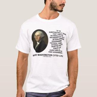 George Washington Morality Popular Government T-Shirt