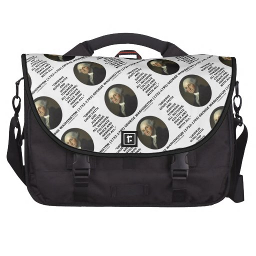 George Washington Observe Good Faith Justice Quote Bag For Laptop