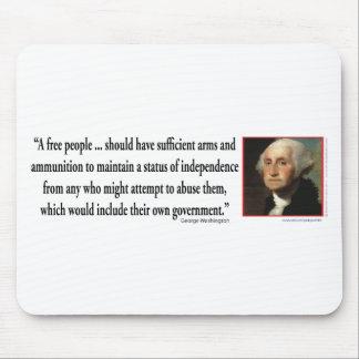 George Washington on Gun Rights Mouse Mat