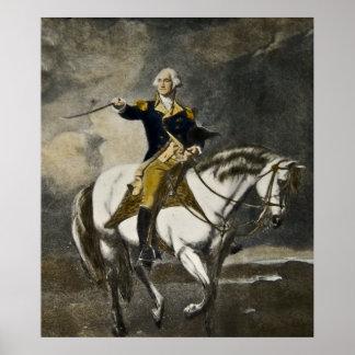 George Washington on Horseback at Trenton Poster