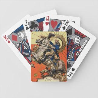 George Washington on Horseback Bicycle Poker Cards