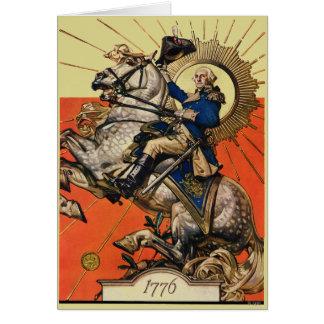 George Washington on Horseback Greeting Card