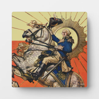 George Washington on Horseback Plaque