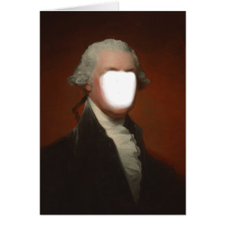 George Washington Photobooth Place A Face Template Greeting Card