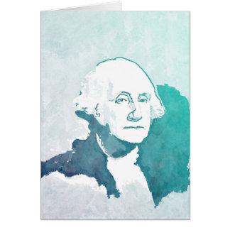 George Washington Pop Art Portrait Greeting Card