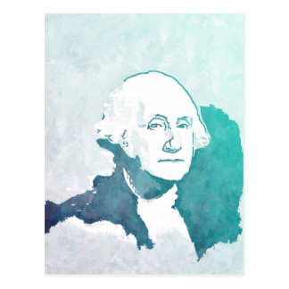 George Washington Pop Art Portrait Postcard