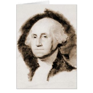 George Washington Portrait 1850 Greeting Card
