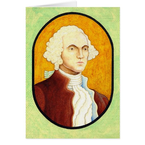 George Washington Portrait Mosaic 1930 Greeting Card