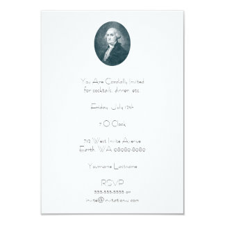 George Washington Portrait Oval 9 Cm X 13 Cm Invitation Card