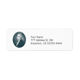 George Washington Portrait Oval Return Address Label