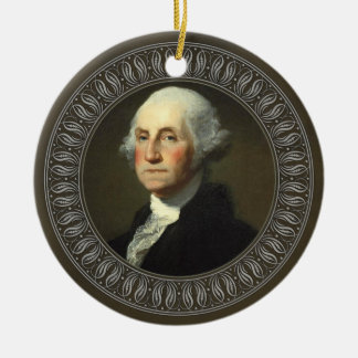George Washington Portrait Round Ceramic Decoration