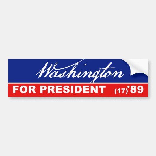 George Washington President 1789 Bumper Sticker