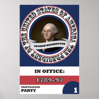George Washington Presidential History Poster