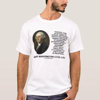 George Washington Public Opinion Enlightened Quote T-Shirt