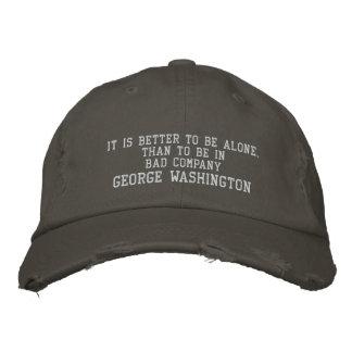 GEORGE WASHINGTON QUOTE -BASEBALL CAP EMBROIDERED BASEBALL CAP