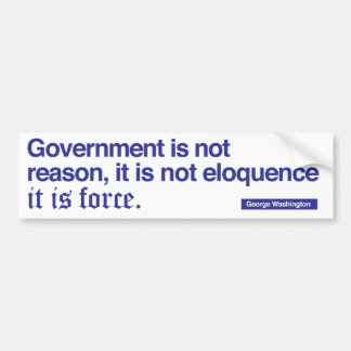 George Washington Quote / Blue on white Bumper Stickers