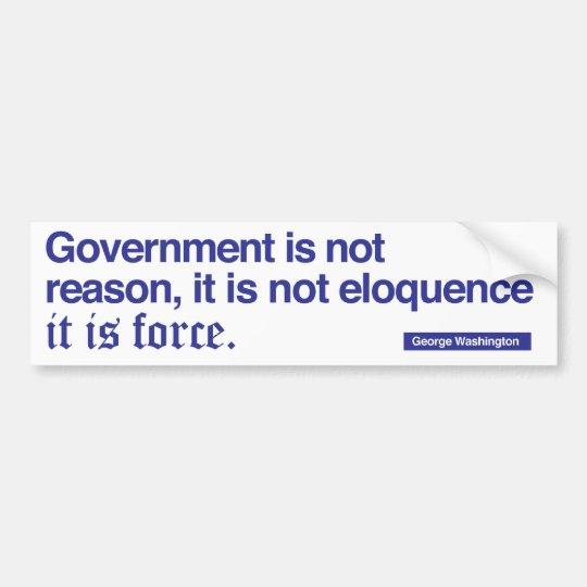 George Washington Quote / Blue on white Bumper Sticker