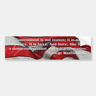 George Washington Quote Bumper Sticker