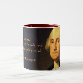 "George Washington Quote ""Liberty"" Two-Tone Coffee Mug"