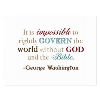 George Washington Quote Postcard