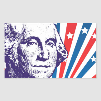 George Washington Rectangular Sticker