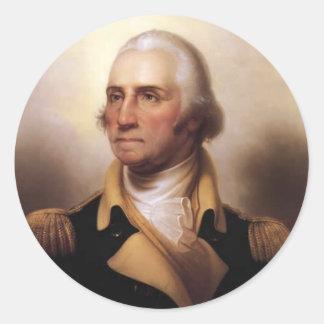George Washington Round Sticker