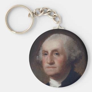 George Washington - Thomas Sulley  (1820) Basic Round Button Key Ring