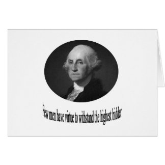 George Washington with quote Greeting Card