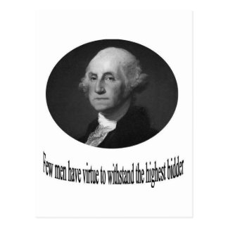 George Washington with quote Postcard