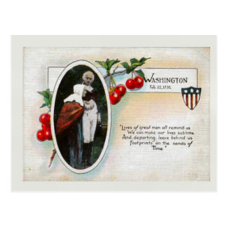 George Washington's Birthday & Postcard