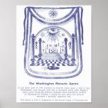 George Washington's Masonic Apron Poster