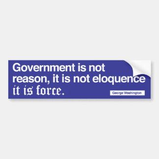 George Washinton Quote / White on blue Bumper Sticker
