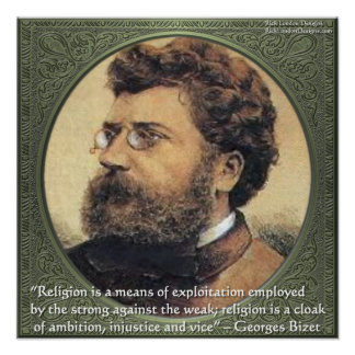 Georges Bidet Religion Exploits Quote Poster Print