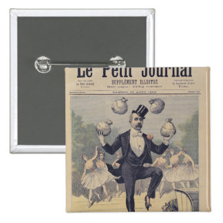 Georges Clemenceau  juggling bags of English 15 Cm Square Badge