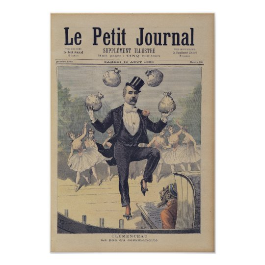 Georges Clemenceau  juggling bags of English Poster