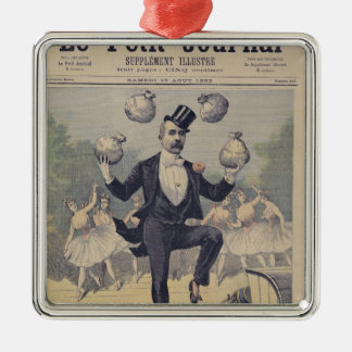 Georges Clemenceau  juggling bags of English Silver-Colored Square Decoration
