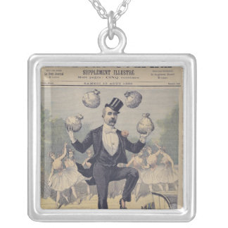 Georges Clemenceau  juggling bags of English Silver Plated Necklace