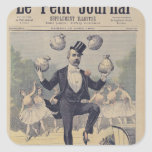 Georges Clemenceau  juggling bags of English Square Sticker