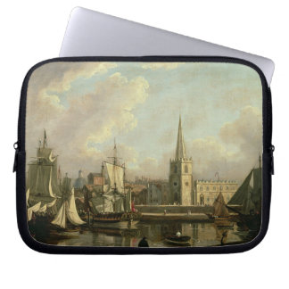 George's Dock Basin, Liverpool, 1797 (oil on canva Laptop Sleeve